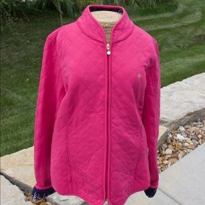 Lily Pulitzer Pink Quilted Jacket